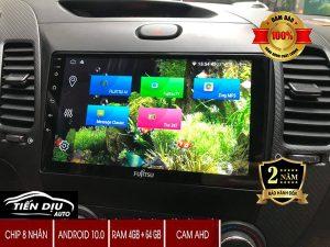 Màn Hình Android Ô Tô Fujitsu Cắm Sim 4G Công Nghệ Nhật Bản