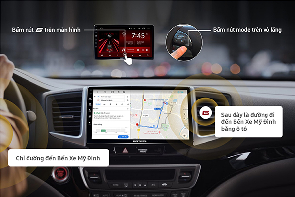 màn hình ô tô ra lệnh giọng nói thông minh