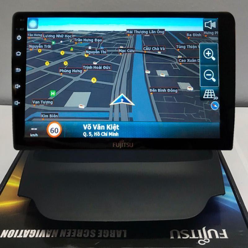 Tính năng chỉ đường thông minh của màn hình Android Fujitsu cho xe Mitsubishi Pajero